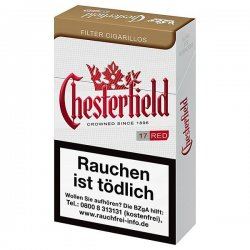 Chesterfield Red King Size Filter Cigarillos
