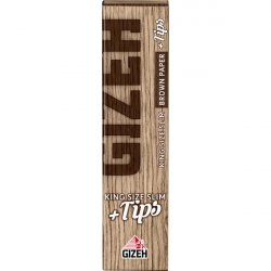 GIZEH Brown King Size Slim + Tips