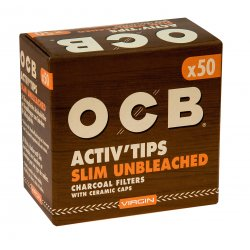 OCB Activ Tips Slim Unbleached