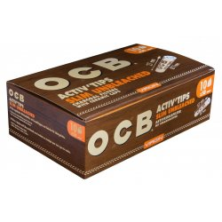 OCB Activ Tips Slim Unbleached 10er