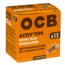OCB Activ'Tips Extra Slim Unbleached 6mm